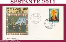 ITALIA FDC ROMA 50° SCOUTISMO IN ITALIA 1968  ANNULLO  BARI G181
