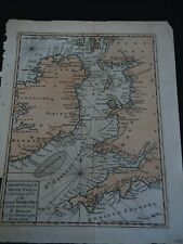 """Antique Map """"A Correct Chart of the Irish Sea exhibiting a View of the Several.."""