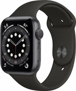 Apple Watch Gen 6 Series 6 44mm Space Gray Aluminum - Black Sport Band M00H3VC/A