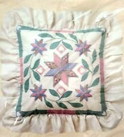 Vintage pineapple pillow kit The Creative Circle candlewicking embroidery Colonial Jacobean pineapple 1980s pillow kit