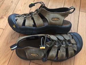 Keen Newport Sandals Bison Brown Leather Fisherman Waterproof Hiking Men Sz 8