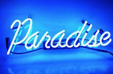 Paradise Room Home Pub Bar Display Christmas Club Art Work Neon Signs Blue Light