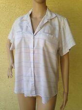 DVF Diane Von Furstenberg Womens Size 10 Short Sleeve Plaid Button Front Shirt