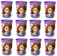 12x Disney Sofia the First Plastic Reusable Cups 16oz~Birthday Party Favors NEW