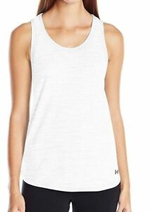 NWT Women's Under Armour HeatGear White Fashlete Tank