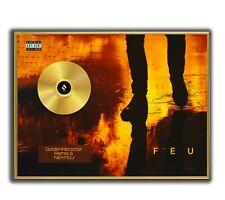 Nekfeu Poster, Feu Poster GOLD/PLATINIUM CD, gerahmtes Poster HipHop Rap WallArt