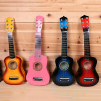"21"" Wooden Beginners Acoustic Kids Guitar 6 String Children Gift Practice Music"
