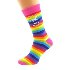 Trust me I'm a Unicorn Rainbow Design Socks - Novelty Gift