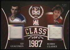 2015-16 Ed Giacomin Bobby Clark ITG Enshrined Gold Spectrum Jersey 1/1 Bruins