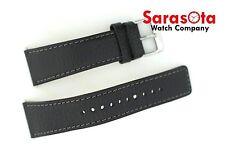 Original Seiko Case 7S26-04B0 Calf Leather Black Watch Band 23mm w/Buckle