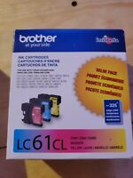 BROTHER LC61CL Genuine Sealed New TriColor Ink Toner Cartridge 06/2021+