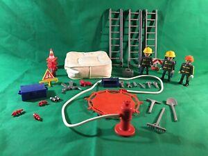 Playmobil Pompiers Lot 2 Coussin gonflable accessoires city life secours