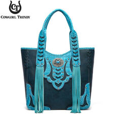 Western Style Concealed Purse Fringe Totes Handbag Women Shoulder Bag Wallet Set