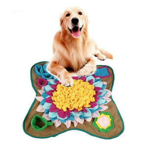 50cm Dog Puppy Snuffle Mat Pet Puzzle Toy Sniffing Nose Training Pad Washable