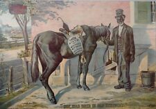 """*Authentic - """"Green River Whiskey"""" 1899 Advertising Offset Lithograph"""