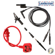 LDM004 Earth Bond & Continuity Test Leads with IEC Lead for PAT Testing.