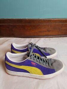 Puma Suede Classic Tenis Barato Sneakers 352634-46 Men's Size 9 Purple/Yellow