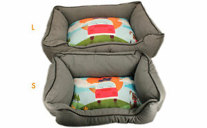 . Just Kampers Pet Bed Dog Cat Small Machine Washable 60x40x22cm