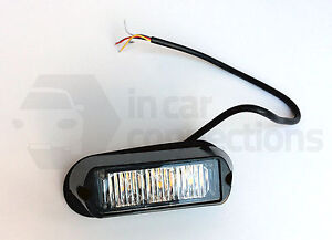 Amber flashing 3 LED module strobe light lamp truck lorry recovery van car R65