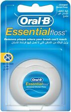 5 X ORAL B ESSENTIAL FLOSS UNWAXED