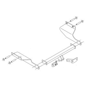 PCT Towbar for Jaguar X-Type Saloon 2001-2010 - Flange Tow Bar