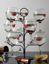 Gin tree / cocktail tree stand (holds 9 glasses) Black, New & Boxed