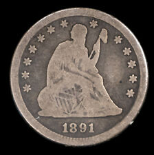 1891-P Seated Liberty Silver $25C Circulated Fine Plus *1921