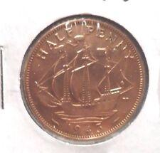 CIRCULATED 1943 HALF PENNY UK COIN (021516)