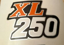 XL250 Honda XL 250 Honda Muffler Guard Side Cover Sticker Label Decal - Orange