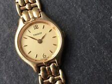 Ladies Gold Plated Tissot Wristwatch E423K Quartz Watch - Working