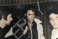 Elvis Presley - Original Candid Photo- Backstage Vegas 1969 w/ French fans 097