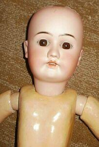 27-in antique German doll, marked VICTORIA H S, super rare!