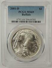 2001-D $1 AMERICAN BUFFALO SILVER COMMEMORATIVE DOLLAR PCGS MS69 #39669381