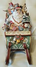 Fitz and Floyd Santa Claus Sleigh soup tureen original box MINT!