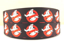 "GHOSTBUSTERS 22MM 7/8"" Grosgrain Ribbon Craft Decoration Metre Yard Movie RB6"