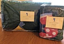 POTTERY BARN KIDS Twin Football Quilt and Sham 100% cotton *NEW IN PACKAGE*