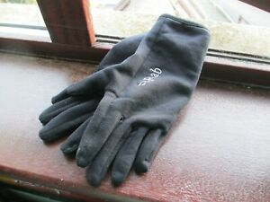 Rab Unisex Powerstretch Contact Gloves - Touch Screen Compatible (SMALL - S)