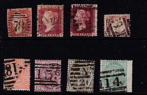 QV used stamps. Mixed condition as scans. All sound used. L. Eng & SPrinted.
