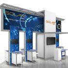 Solar E 20'x20' Modular Tension Fabric Trade Show Exhibit Booth Display - Base P