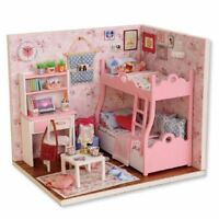 1:24 Handmade Doll House Furniture Diy Miniature Dust Cover Wooden Toys For X5E4