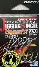 NEW DECOY JIGGING SINGLE SERGEANT JS-1 HOOK SIZE 3/0 MADE IN JAPAN