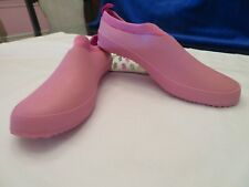 Ladies Pink Garden Clogs Solid Foot Cover Size S (5/6) NWT