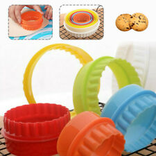 6PCS FONDANT CUTTER COOKIE SCONE ROUND CRINKLE EDGE MOLD PARTY BISCUIT MOULD