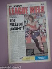 #T108. RUGBY LEAGUE WEEK NEWSPAPER  10/7 1980, CANTERBURY TEAM PINUP