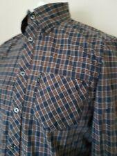 Mens Ben Sherman Shirt Blue Check Mod Ska Medium 44 Chest Plaid Skinhead