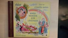 "Capitol 2-Record Set Claude Rains BIBLE STORIES FOR CHILDREN 10"" 78rpm 1948"