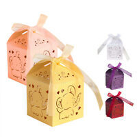 Laser Cut Elephant Candy Boxes Wedding Favor Baby Shower Wholesale