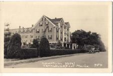 Nonantum Hotel KENNEBUNKPORT MAINE ME Vintage Real Photo Postcard Not Postmarked