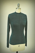 Jonden Size S Top Vintage 1990s Form Fit Dance Green Made in U.S.A.