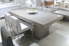 "83"" L dining table Desk solid concrete Cement modern sealed indoor outdoor"